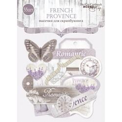 Набор высечек для скрапбукинга 55шт от Scrapmir French Provence
