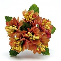 Декоративный букетик  оранжевый, Рукоделие, DKB150D