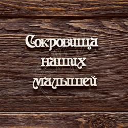 """Чипборд """"Надпись Сокровища наших малышей"""""""