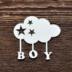 "Чипборд ""Boy облачко"", 6.5*6см"