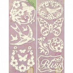 Силуэты (Флора и фауна) Стикеры картонные для скрапбукинга K&Company