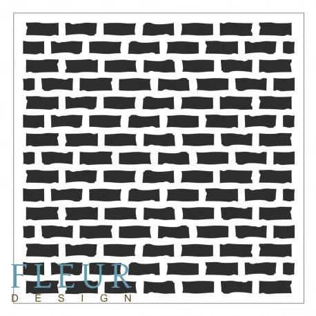 Трафарет Стена, 15,5х15,5 см, толщина 0,5мм