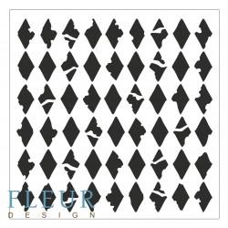Трафарет Ромбы, 15,5х15,5 см, толщина 0,5мм, FD4020010