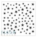 Трафарет Звезды, 15,5х15,5 см, толщина 0,5мм, FD4020012
