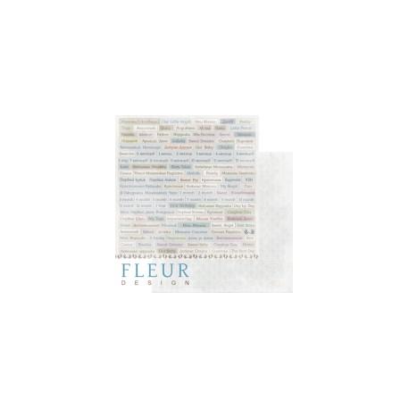 """Лист бумаги для скрапбукинга """"Главные слова"""", коллекция """"Наш малыш Мальчик"""", 30х30, плотность 190 гр"""