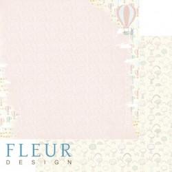 """Лист бумаги для скрапбукинга """"На воздушном шаре"""", коллекция """"В облаках"""", 30х30, плотность 190 гр, FD1004105"""
