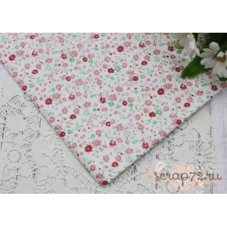 Розовые цветочки на белом, 50*40см