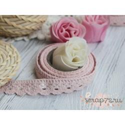 Декоративная тесьма на клеевой основе, цвет розовый, 15мм