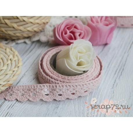 Декоративная тесьма на клеевой основе, цвет розовый,