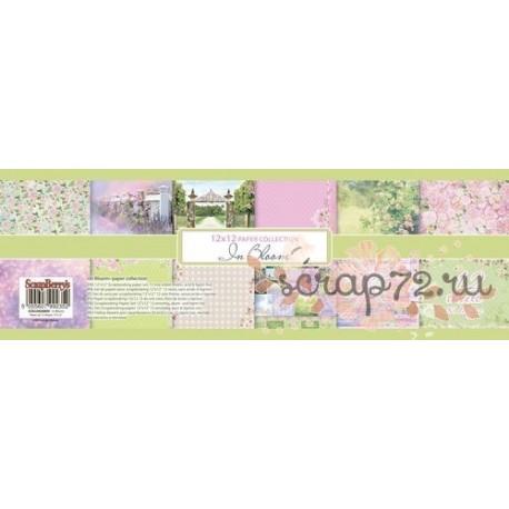 Набор бумаги для скрапбукинга 30,5х30,5 см 190 гр/м, одностор Цветущий Сад, 12 листов RU