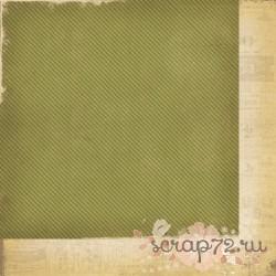 Бумага для скрапбукинга 30*30 см AWESOME Teal Stripe