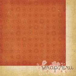 Бумага для скрапбукинга 30*30 см AWESOME Orange Star