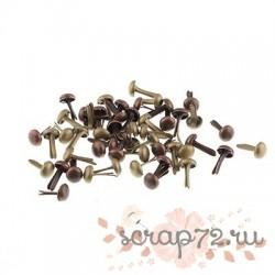 Набор брадсов Состаренный металл, 4.5 * 8 мм, 50 шт.