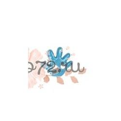 """Пуговица """"Детская ладошка"""" """"GAMMA"""", цвет голубой, 8 мм, 1шт"""