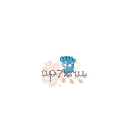 """Пуговица """"Детская ножка"""" """"GAMMA"""", цвет голубой, 8 мм, 1шт"""