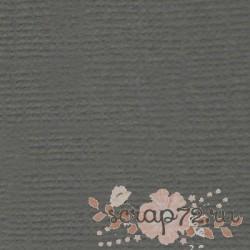 Кардсток текстурированный Морская галька (серый), 30,5*30,5 см, 216 гр/м, 1л.
