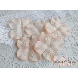 Цветы гортензии, цвет бледный персиковый, 10 цветочков