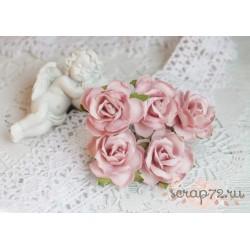 Дикая роза, цвет розовый, 3см, 1 цветок