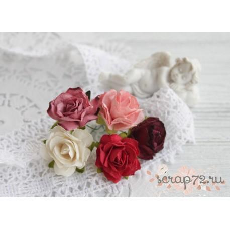 Дикая роза, цвет бирюзовый, 3см, 1 цветок