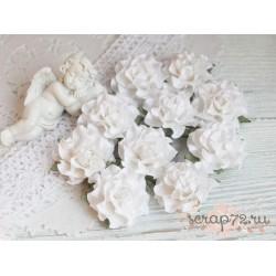 Букетик роз Tuscany, яркий микс, 30мм, 5 цветочков разного цвета