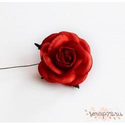 Роза крупная, цвет красный, 5 см, 1цветок