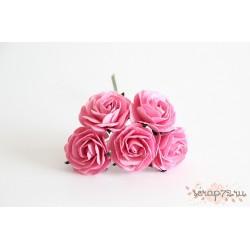 Роза крупная, цвет розовый, 4 см, 1цветок