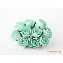 Бутон розы, крупный полураскрытый, цвет мятный, 2см, 1бутон