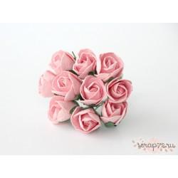 Бутон розы, крупный полураскрытый, цвет розовоперсиковый, 2см, 1бутон