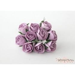 Бутон розы, крупный полураскрытый, цвет светло-сиреневый, 2см, 1бутон