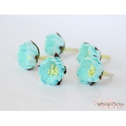 Цветок шиповника, цвет Светло-бирюзовый,  2см, 1 цветок