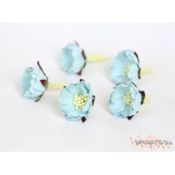 Цветок шиповника, цвет голубой,  2см, 1 цветок