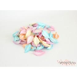 Листочки без стебельков, цвет Микс пастель, 4.5см, 10шт