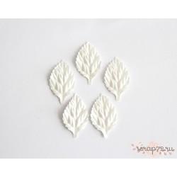 Листочки без стебельков, цвет Белый, 4.5см, 10шт