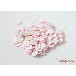 Цветочки маленькие, цвет розово-белый, 1см, 10шт