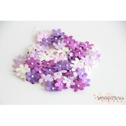 Цветочки маленькие, цвет Сиреневый микс, 2см, 10шт