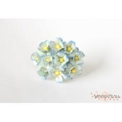 Лютики, цвет Голубой 2х-тоновый, 2см, 10шт