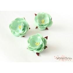 Дикие розы, цвет Мятный, 4.5см, 1шт