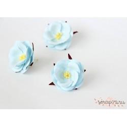 Дикие розы, цвет Голубой, 4.5см, 1шт