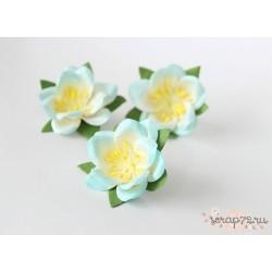 Сакура, цвет Бело-голубой, 4.5см, 1шт