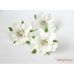 Пион, цвет Белый, 6см, 1шт
