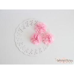 Цветочки из ткани атласные, цвет Baby pink, 5.5см, 1шт
