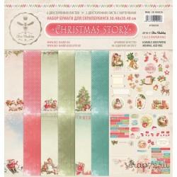 Набор бумаги для скрапбукинга CHRISTMAS STORY 8 двустор. листов, 190 г/м, 30.5х30.5 см
