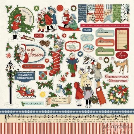 Стикеры Christmas Wonderland, 30*30см