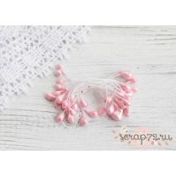 Двусторонние тычинки, цвет розовый, 5мм, 20 шт
