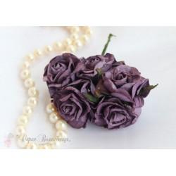 Кудрявые розы, фиолетовые, 5см, 1шт.