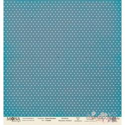 Лист бумаги для скрапбукинга 30,5х30,5 см 190 гр/м односторон Горох Синий