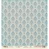 Лист бумаги для скрапбукинга 30,5х30,5 см 190 гр/м односторон Дамаск Синий