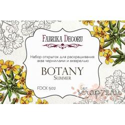 """Набор открыток для раскрашивания аква чернилами, акварелью """"Botany summer""""."""