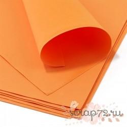 Фоамиран 50*50 см*1 мм. Морковный, 10 шт.