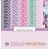 Набор бумаги для скрапбукинга 30,5х30,5 см 190 гр/м, Зимние контрасты (10+2)